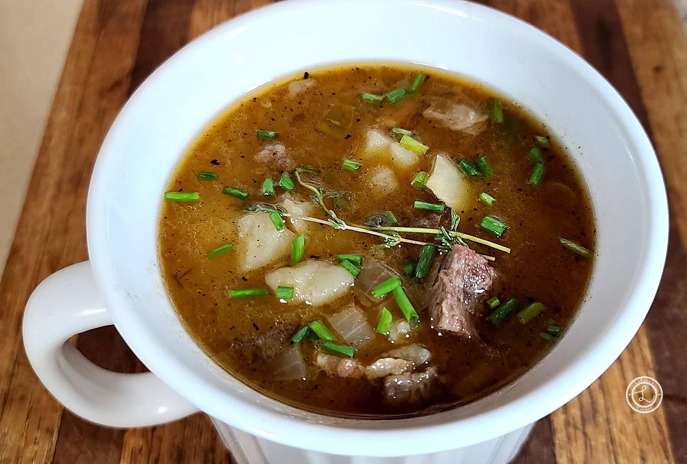 Close up of Steak & Potato Soup